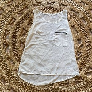 3for$15 UO Sheer Tank Top w/ Leather Detail Above the Pocket sz M